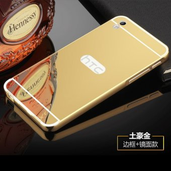 Metal mirror border Back Cover case For H TC Desire 816 (gold) - intl