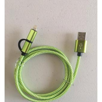 Metallic Cord 2in1 for Iphone and Android