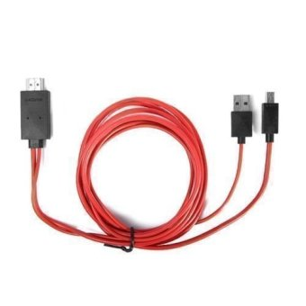 MHL Micro USB 1080P HDMI HDTV AV TV Adapter Cable Cord For HTCFIRST Phone (Red)