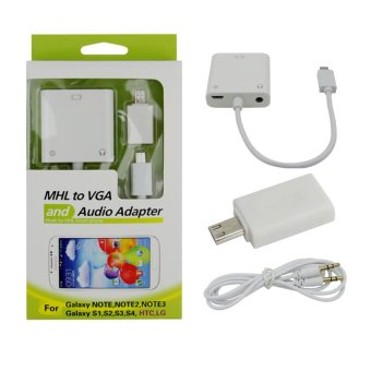 MHL to VGA and Audio Adapter (White)
