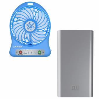Mi Powerbank 20,800mAh(Silver) with Holder Rechargable Fans