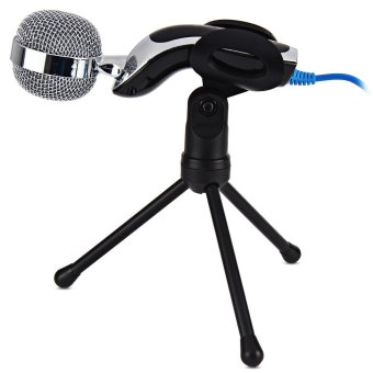 Mic Studio Audio Sound Recording usb microphone CondenserMicrophone with Microphone Stand for computer Laptop - Intl