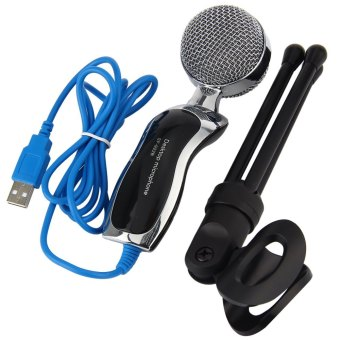Mic Studio Audio Sound Recording usb microphone CondenserMicrophone with Microphone Stand for computer Laptop - Intl - 2