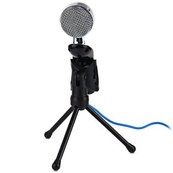 Mic Studio Audio Sound Recording usb microphone CondenserMicrophone with Microphone Stand for computer Laptop - Intl - 4