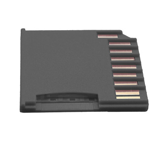 Micro SD SDHC TF to MiniDrive SD Card Reader Adapter for MacBook Air/Pro 64G Black