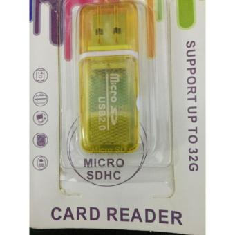 Micro USB 2.0 Card Reader Support Up To 32G(Yellow)