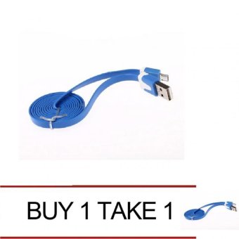 Micro USB Flat Cable for Android/Samsung Phone (Blue) Buy 1 Take 1
