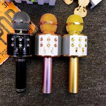 Microphone Wireless KTV Karaoke Bluetooth Handheld Mic HIFI Speaker(Rose Gold) WS858 - 4