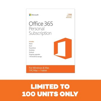 Microsoft Office 365 Personal Mac/Win English Subscription P2 APACEM 1 License Medialess