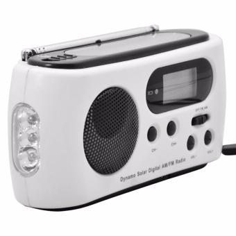 Miimall RD612 Mini Portable Hand Crank Dynamo FM/AM Radio (White) - intl - 2