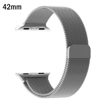 Milanese Loop Strap Stainless Steel band For Apple Watch 42mm wristband Series 1/2/3 - intl