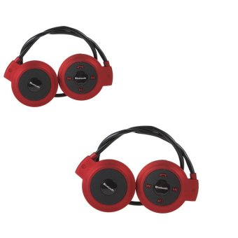 Mini-503TF Sports Stereo Wireless Bluetooth Headset (Red) Set of 2