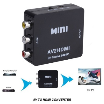 Mini Composite AV CVBS 3RCA to HDMI Video Converter Adapter 720p Up Scale 1080p