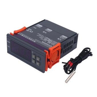 Mini Digital Temperature Controller 220V 10A LCD Display Thermostatfor Refrigerators Farms - intl - 3