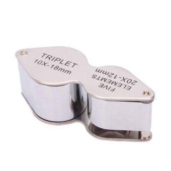 Mini Dual Side 18mm + 20X 12mm Jewelers Loupes / Magnifiers Set of10 - 2