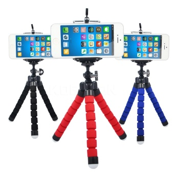 Mini Flexible Sponge Octopus Tripod for iPhone Samsung Xiaomi Huawei Mobile Phone Smartphone Tripod for Gopro Camera DSLR Mount - intl Price in Philippines
