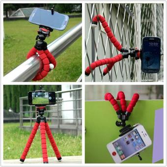 Mini Flexible Tripod Portable Sponge Octopus Tripod Stand Mount With Monopod Holder For Phone Gopro 4 3+ SJ4000 Camera Camcorder - intl