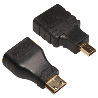 Mini HDMI Male to HDMI Female + Micro to HDMI Adapter Connector For HDTV