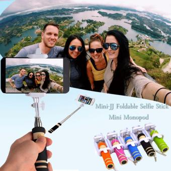Mini-JJ Foldable Selfie Stick Monopod (Black)