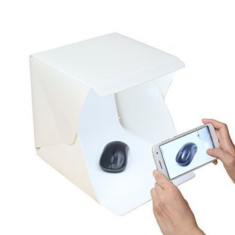Mini LED Portable Lightbox Studio - Take Pictures Like a Pro on theGo with a Smartphone or DSLR Camera - Intl Price Philippines