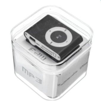 Mini Metal Clip MP3 Player with FM radio function (Black)