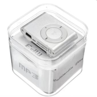 Mini Metal Clip MP3 Player with FM radio function (Silver)