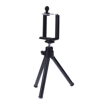 Mini Mobile Phone Stand Flexible Tripod for Smartphone Camera Video Black - intl