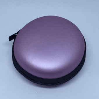 Mini Round Storage Case Bag For Earphone Headphone