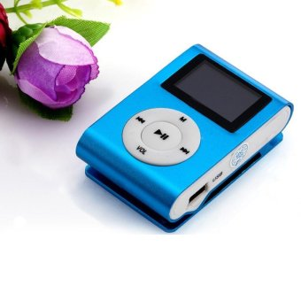 Mini USB Clip MP3 Player LCD Screen Support 32GB Micro SD TF Card -intl