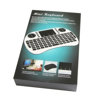 Mini USB Wireless Keyboard Touchpad Air Mouse Fly Mouse Remote Control for Android Windows TV Box PC Pad Cellphone White - 2