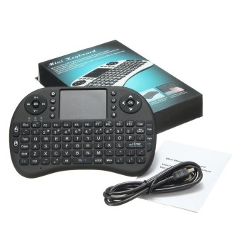 Mini USB Wireless Keyboard Touchpad Air Mouse Fly Mouse RemoteControl for Android Windows TV Box PC Pad Cellphone Black