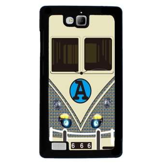 Minibus Teal Pattern Phone Case for Huawei Honor 3c (Black)