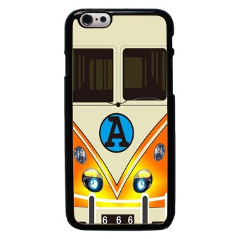 Minibus Teal Pattern Phone Case For iPhone 6/6s (Black)