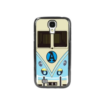 Minibus Teal Pattern Phone Case For Samsung Galaxy S4 (Multicolor)