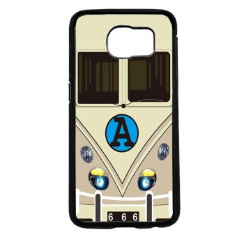 Minibus Teal Pattern Phone Case For Samsung Galaxy S6 (Black)