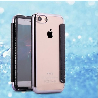 Mirror Electroplating Leather Case For Apple iPhone 6 Plus / 6sPlus