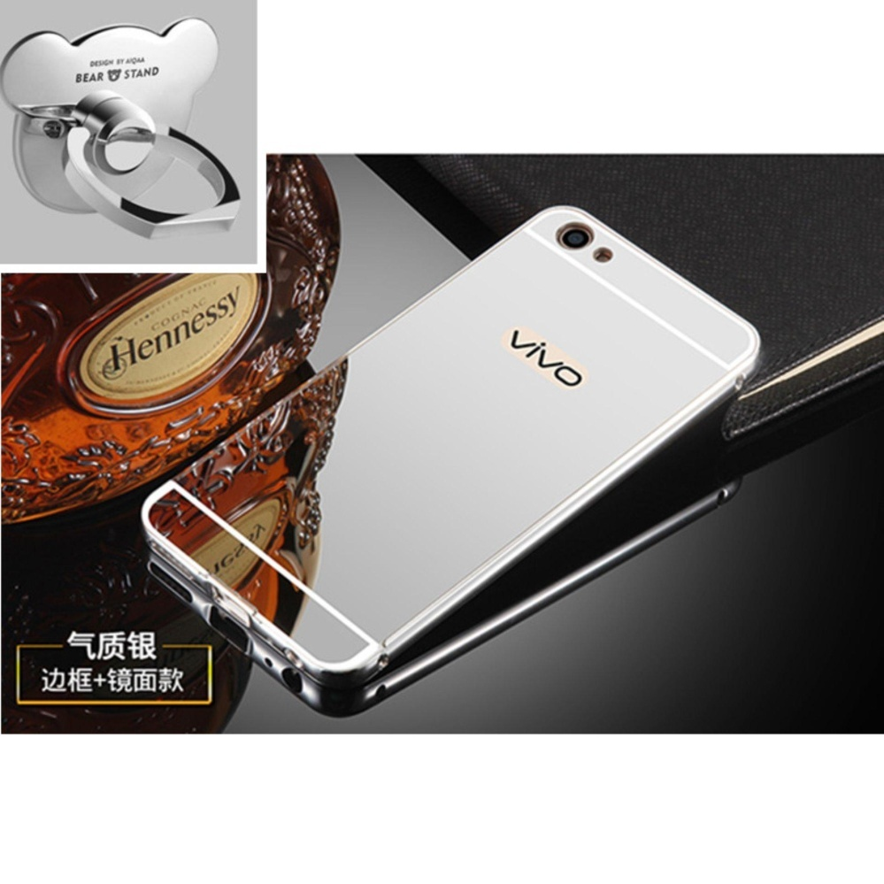 Free Tempered Glass Source · Rainbow Case Anti Crack Vivo Y53 2017 Jelly . Source · Mirror Metal Frame with Bear ring phone case for VIVO Y53 2017(