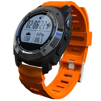 MITPS GPS Sport Smart Watch F69 Bluetooth G-sensor Heart Rate Compass Barometer Thermometer For Android IOS(Orange) - intl