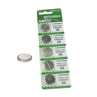 Mitsubishi CR2025 Lithium Cell Button Battery 5 Pieces Price Philippines