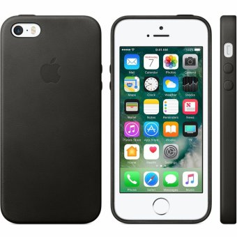 Mobilehub Slim Leather Case For Apple iPhone 5 / 5s /SE (Black)
