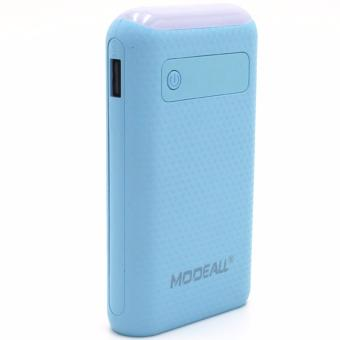 MODEALL M-03 20000mah LCD Display Dual Port PowerBank with Flashlight (Light Blue)