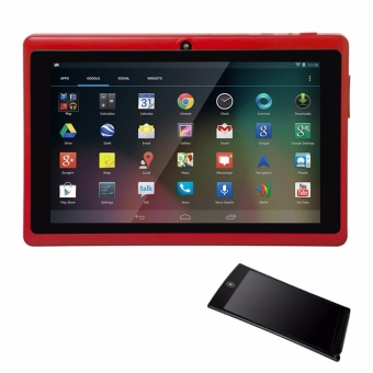 Modoex M710 Quad Core Tablet 8GB (Red) with LHR HSP85 Ultra-thin One Button Erase 8.5 inch LCD Writing Tablet (Color May Vary)