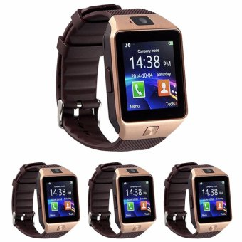 Modoex M9 Phone Quad Smart Watch (Gold/Brown) Set of 4
