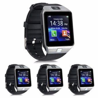 Modoex M9 Phone Quad Smart Watch (Silver/Black) Set of 4