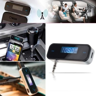 Modulator Car Kit LCD FM Transmitter Wireless Radio AdapterConverter MP3 Hands Free Player For All 3.5mm Headphone - intl