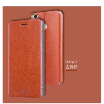 Mofi Stand Flip PU Leather Contrast Color Phone Case for Xiaomi MiMax 2 - intl