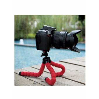 Monkey Pod Flexible Mini Tripod for DSLR, DSC, Camcorder (red)