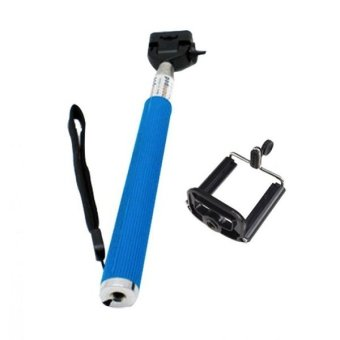 Monopod for Smartphones and Cameras with Stand Holder-(Blue)