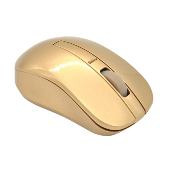 Moonar 2.4GHZ Wireless Digital Luxury Mouse (Gold)