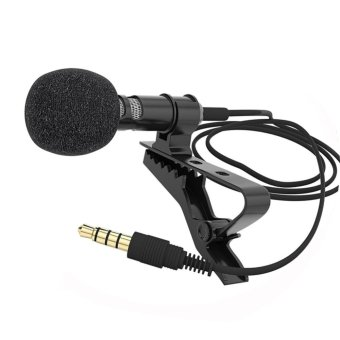 Moonar Lapel Clip-on Omnidirectional Condenser Microphone for Mobile Phone - intl Price Philippines